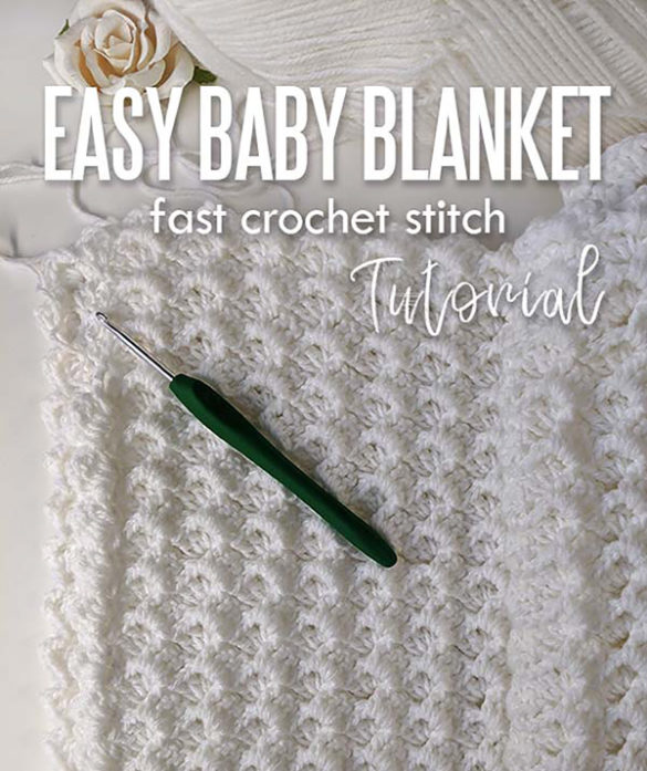 Easy crochet baby blanket - free pattern for beginners