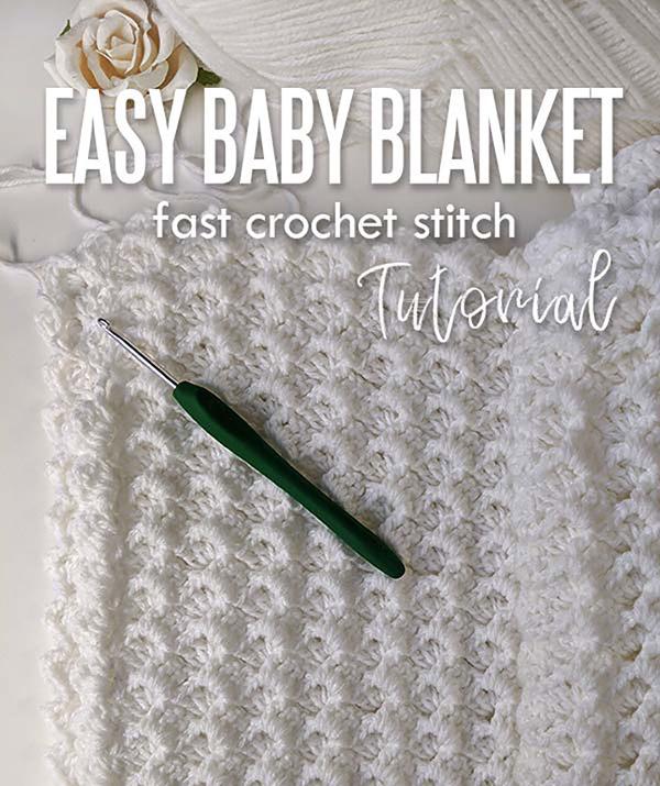 Easy crochet baby blanket - free pattern for beginners