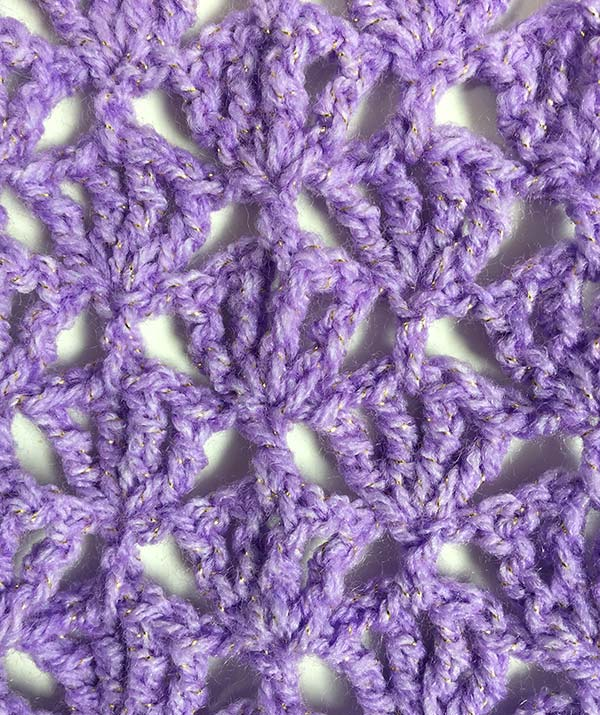 Lacy scarf pattern