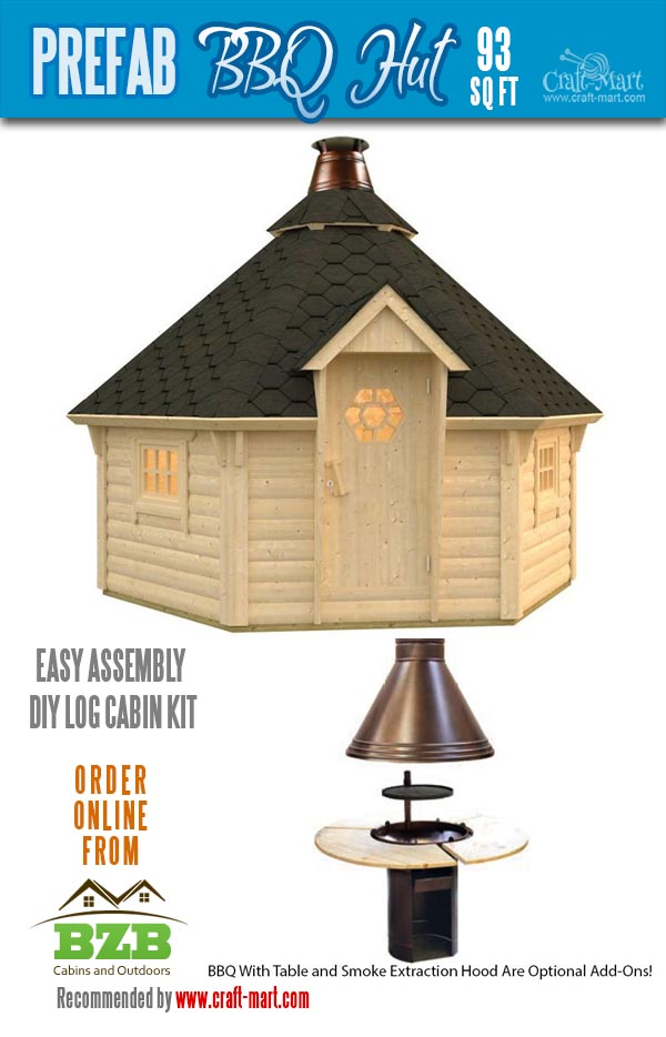 Grill log cabin kit