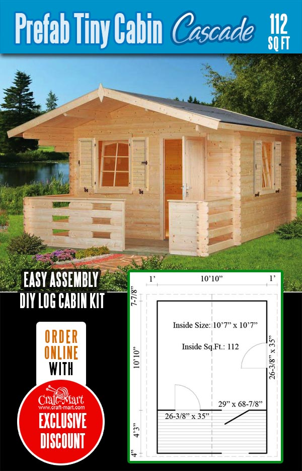 Tiny log cabin kit - cascade