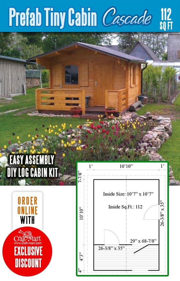 Prefab tiny cabin kits Cascade