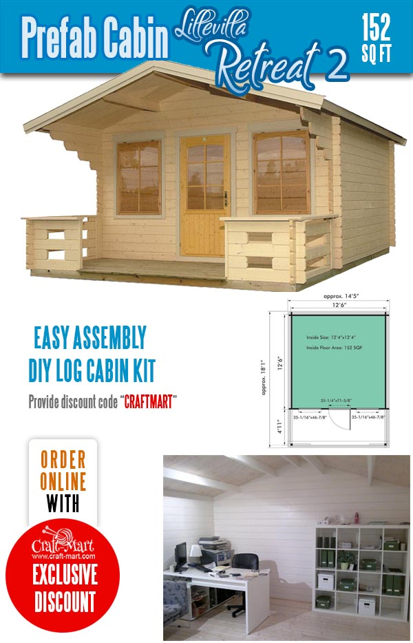 Tiny Log Cabin Kit - Lillevilla Retreat 2