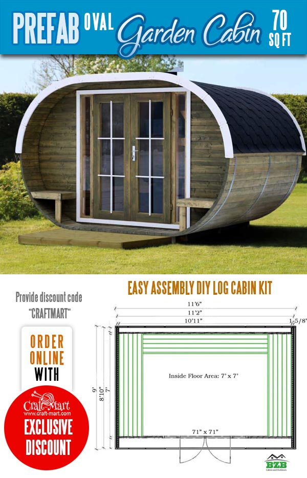 Oval Garden Cabin Kit