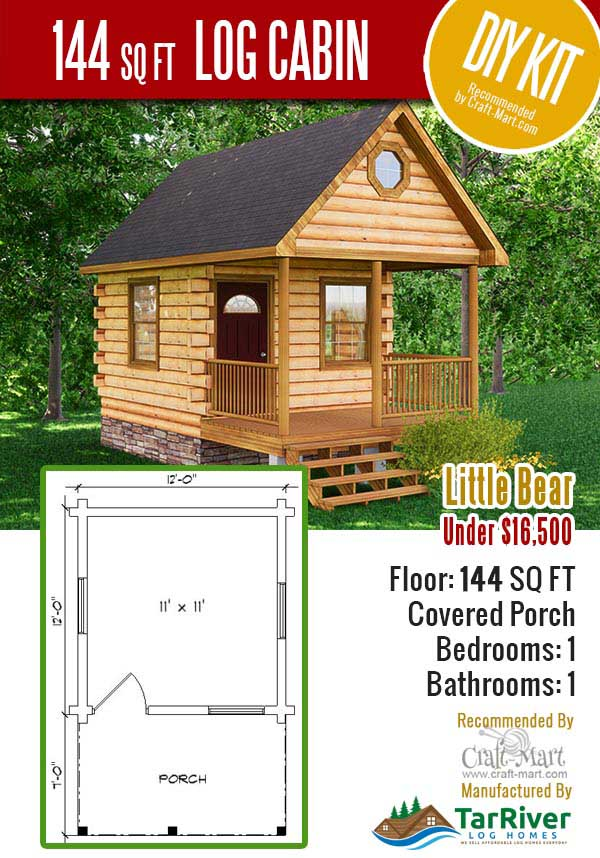 Quality tiny log cabin kits and pre-built cabins that you can afford!