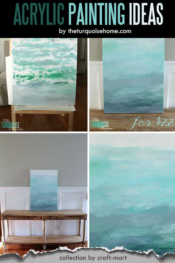 Easy Acrylic Painting Ideas for Beginners - DIY Abstract Art for $22