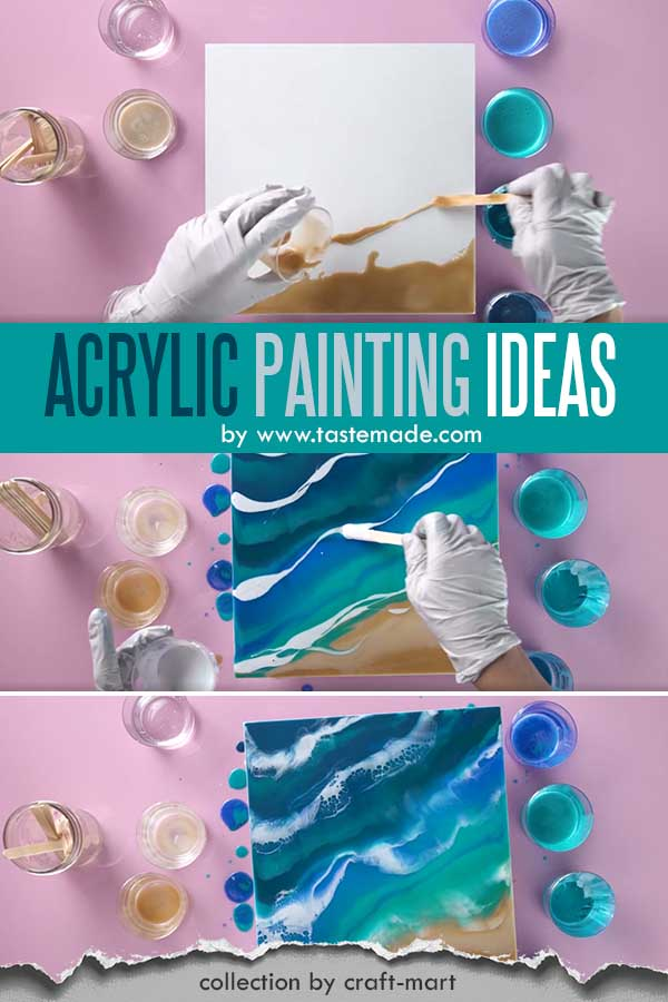 Easy Acrylic Painting Ideas for Beginners - Easy Painting Idea on Canvas 'Surf Up'