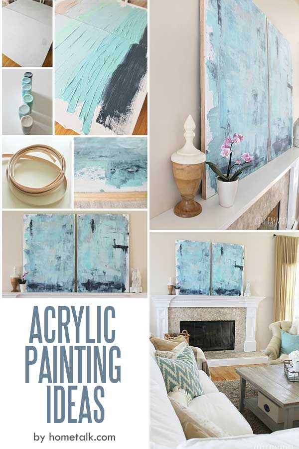 Easy Acrylic Painting Ideas for Beginners - A Coastal Look For Under $30;
