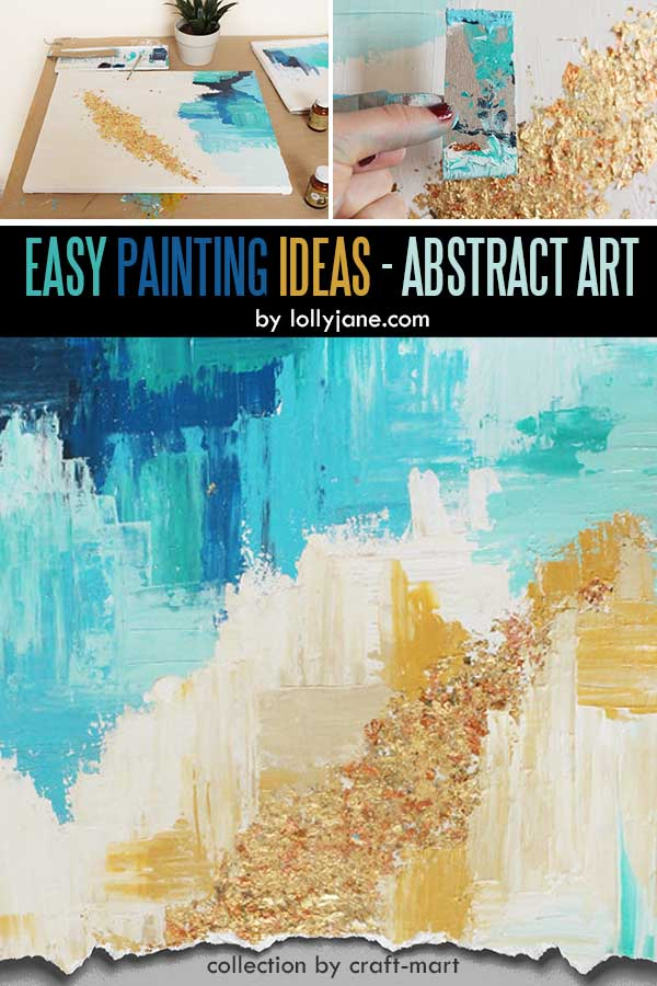 Easy Acrylic Painting Ideas for Beginners - DIY Abstract Art Golden Touch