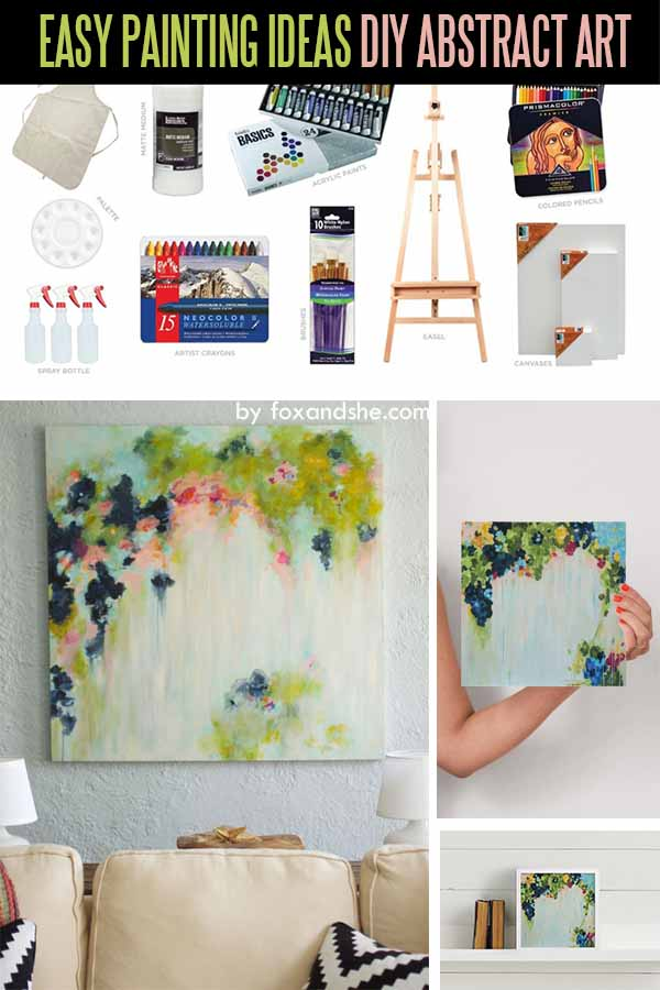 DIY Abstract Art - step-by-step