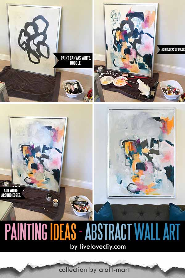 Easy Acrylic Painting Ideas for Beginners - DIY Abstract Wall Art