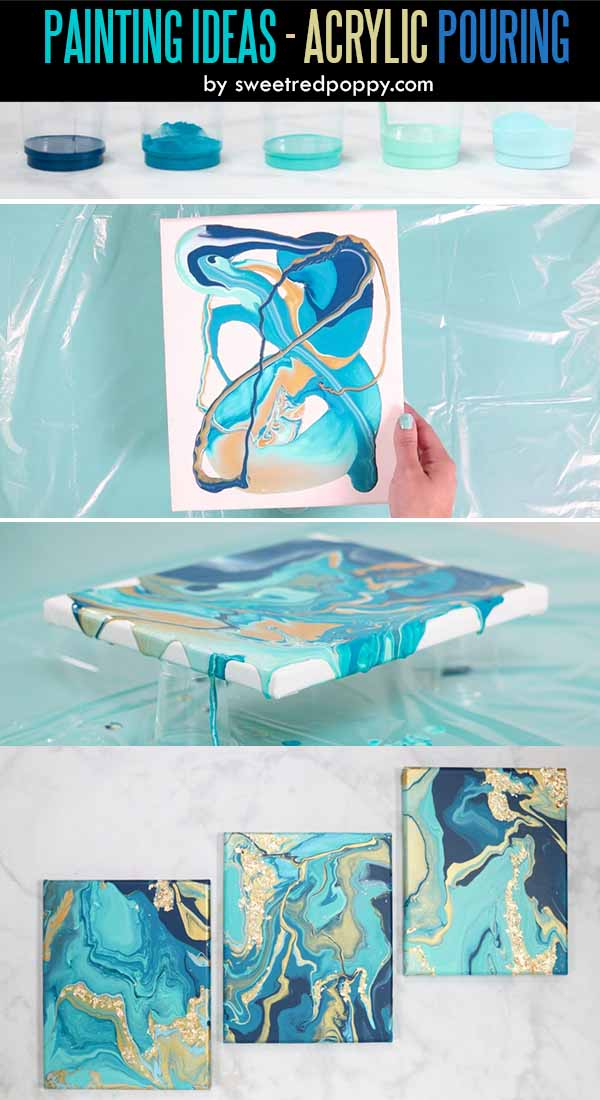 Easy Acrylic Painting Ideas for Beginners - Acrylic Pouring Tutorial