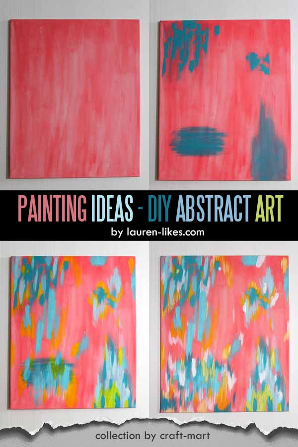 Easy Acrylic Painting Ideas for Beginners - DIY Abstract Art