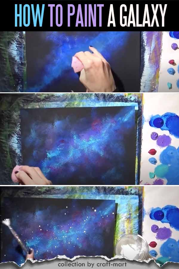 Step-by-step Painting for Beginners: Galaxy Painting