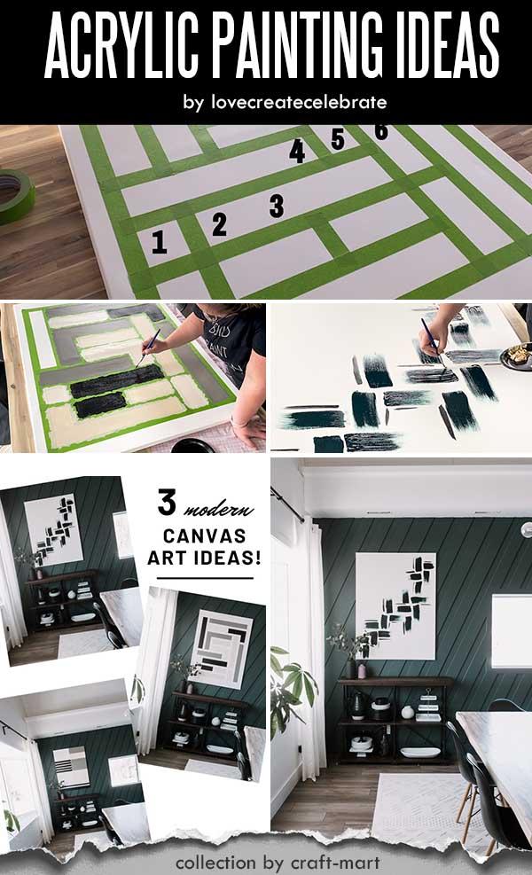 Three Easy Modern Canvas Painting Ideas