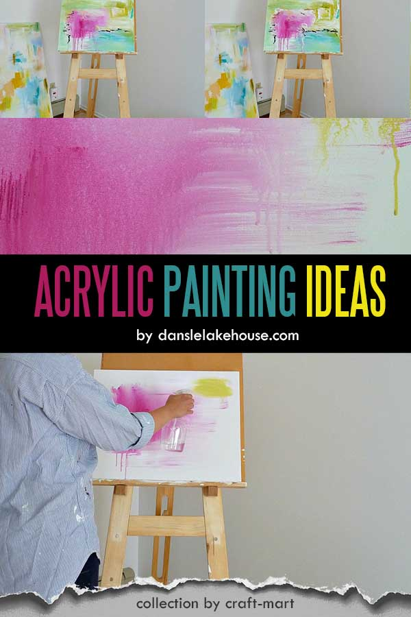 DIY ABSTRACT ART TUTORIAL WITH STEP BY STEP PHOTOS