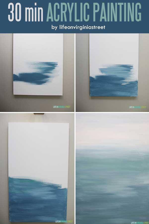30 minute DIY Abstract Artwork