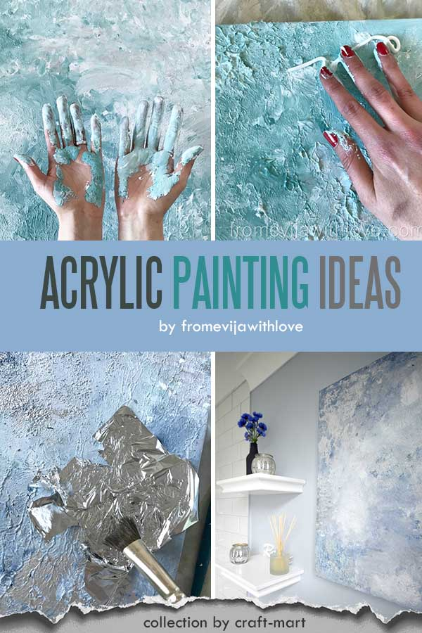 Easy Acrylic Painting Ideas for Beginners - MAKE YOUR OWN ABSTRACT ART ON A BUDGET