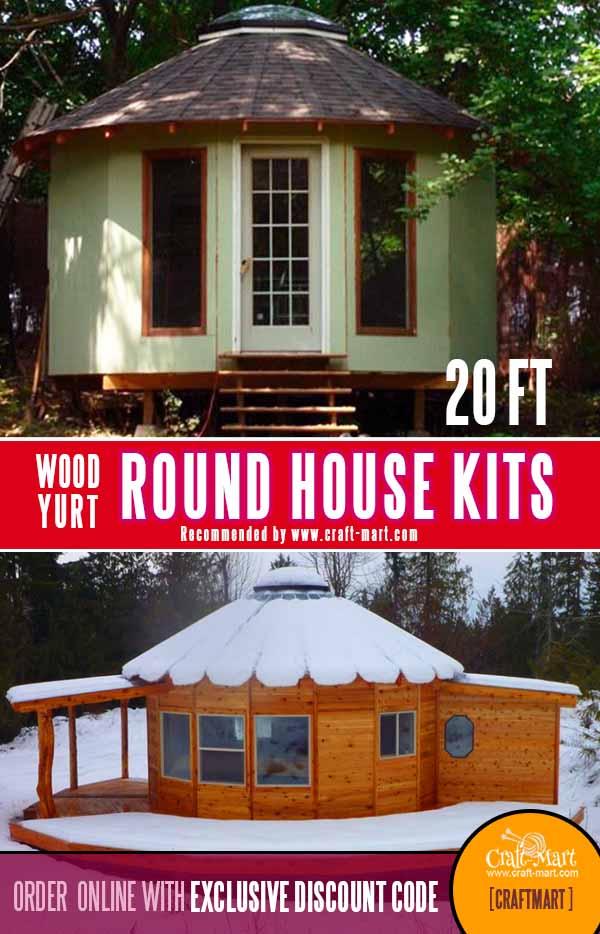 Tiny round house 320 sq ft