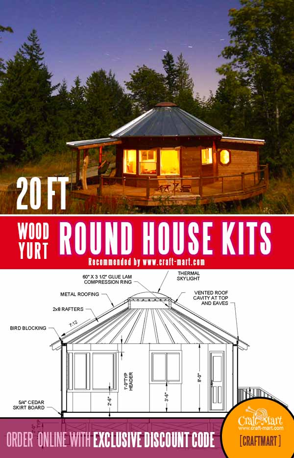 20 ft in diameter tiny round house