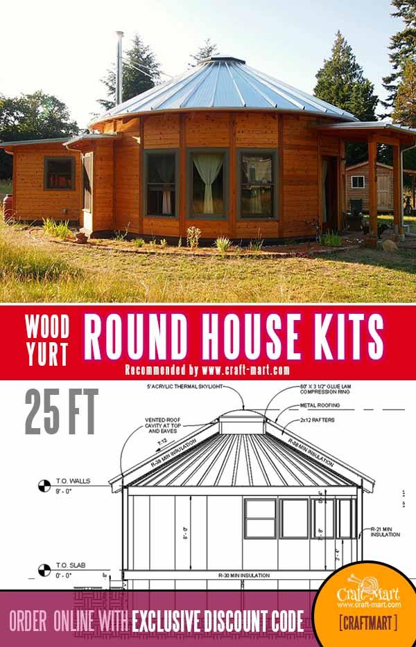 25 FT in diameter round house - granny pod