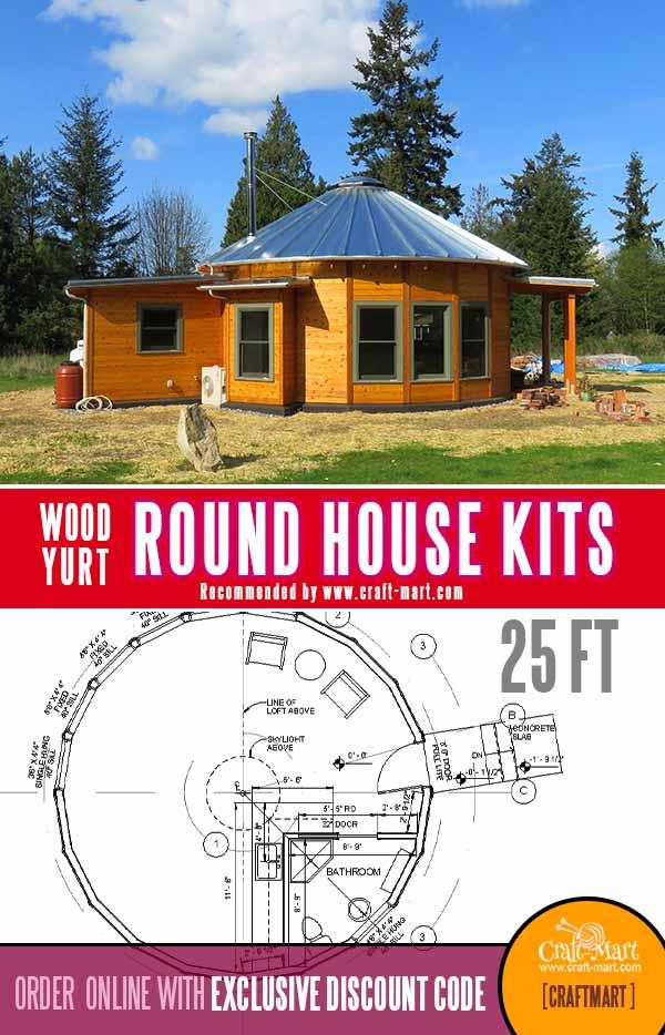510 sq ft round cabin