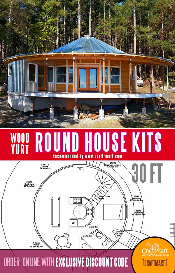 30 ft round cabin kit