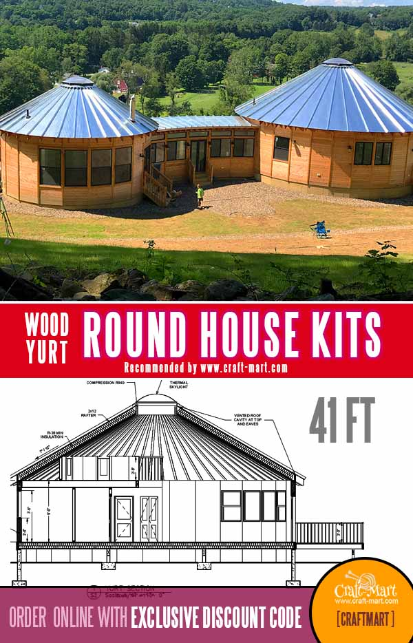 1300 sq ft wooden roundhouse