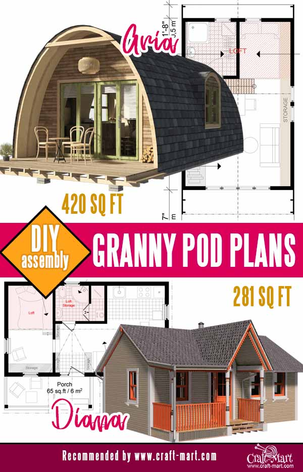 parabolic and traditional cottage plans for granny pods