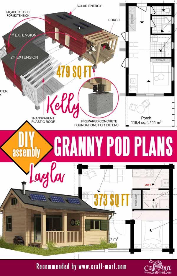 extensible cabin plans - granny pod blueprints