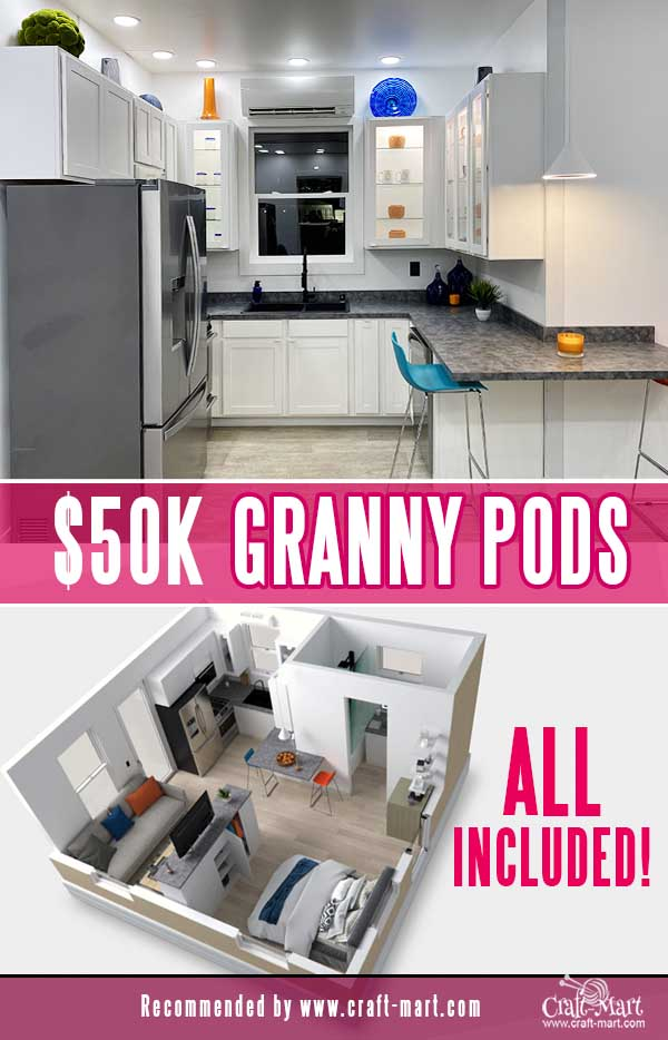 boxable houses granny pods with included kitchen appliances