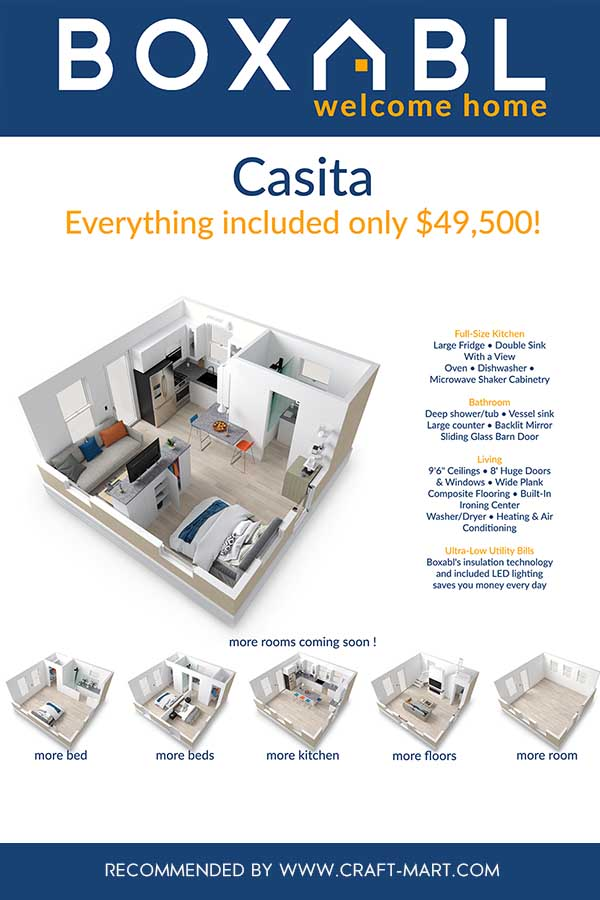 casita foldable modular homes configurations