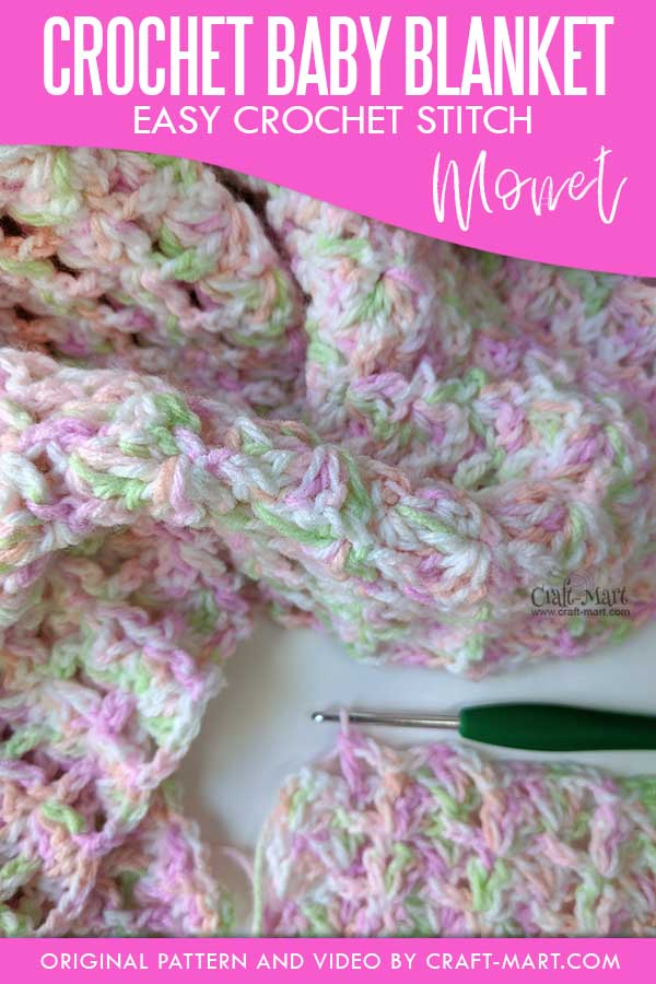 "Crochet Baby Blanket Pattern ""Monet"""