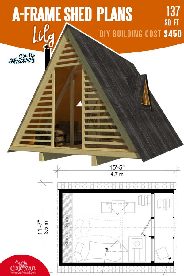 A-Frame Shed Plans Lily