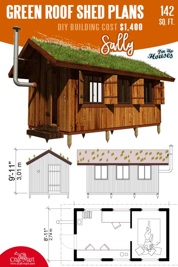 Green Roof Shed Plans Sally