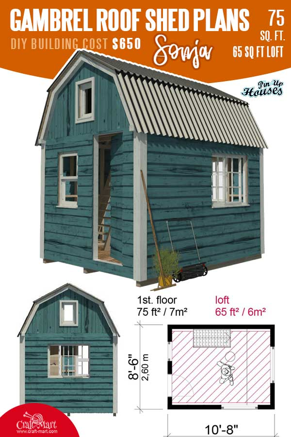 Gambrel Roof Shed Sonja