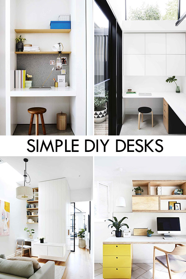 Simple and Stylish DIY Desks and Study Nooks