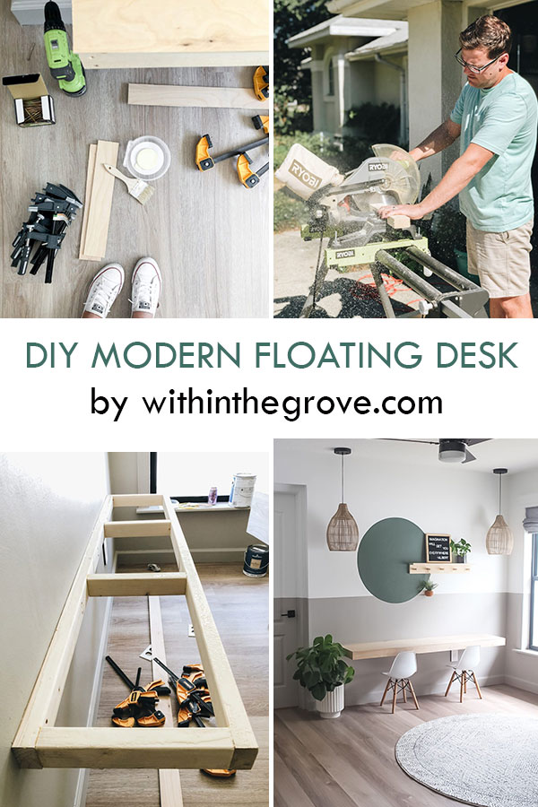 Modern DIY Floating Desk