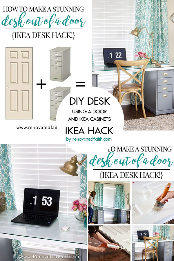 IKEA desk hack by renovatedfaith.com