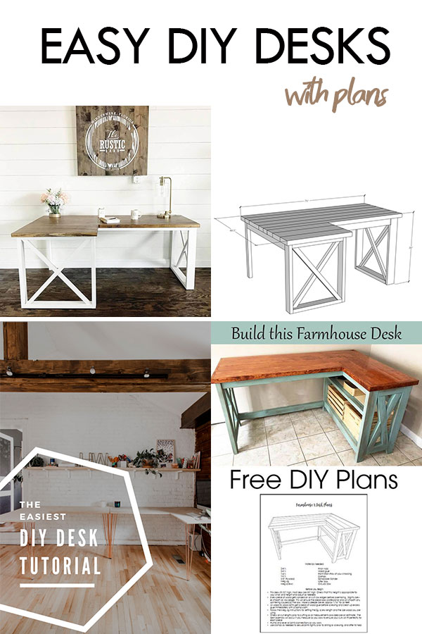 Collection of easy DIY desks