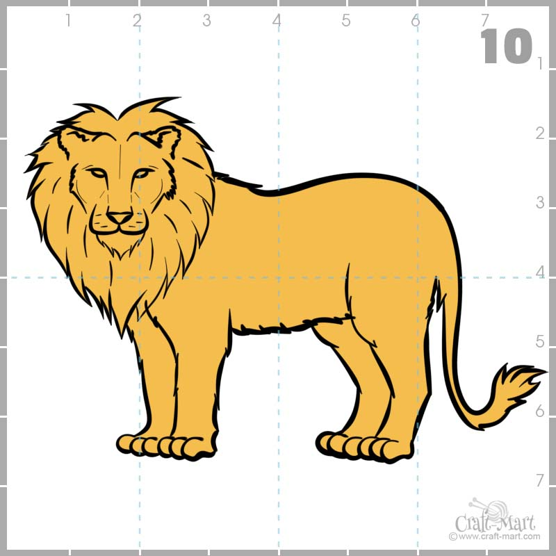 Time to color our lion