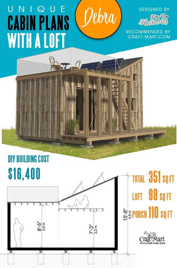 Tiny Cabin Plans with a loft Debra