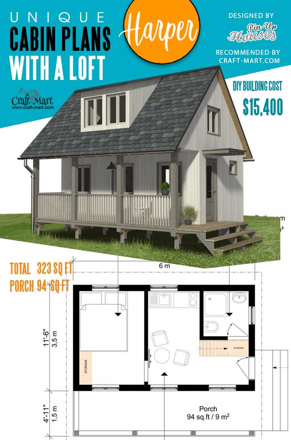 Small Cabin Plans with Porch