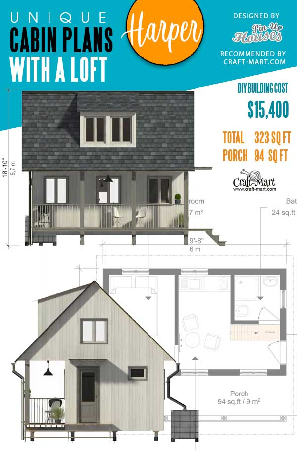 Cabin Plans with Loft Harper