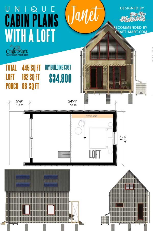 Cabin Plans on Stilts Hailey
