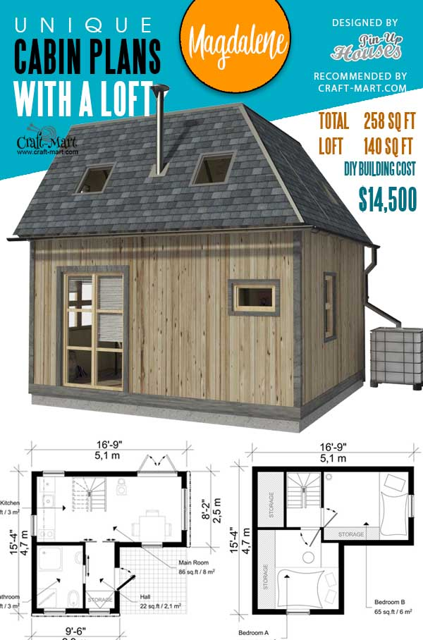 Floorplans of Two Bedroom Tiny House Magdalene