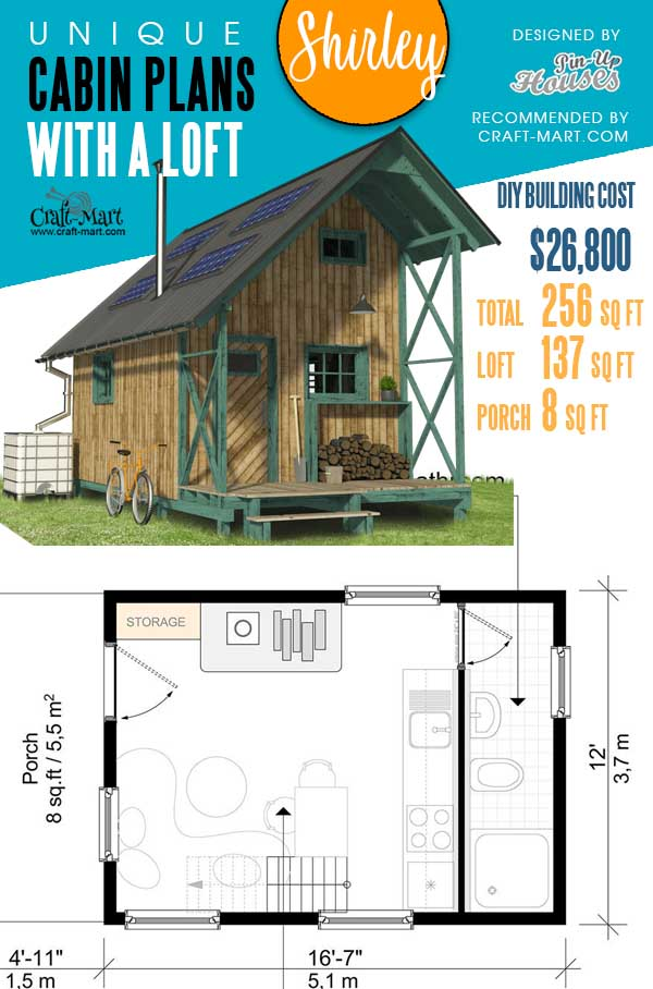 Floorplans of One Bedroom Cottage Shirley