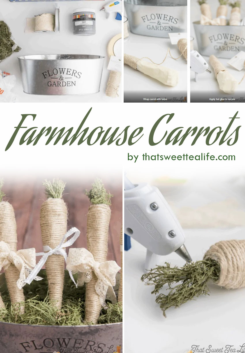 Farmhouse-style Carrots (DIY Easter Decorations in 30 minutes!)