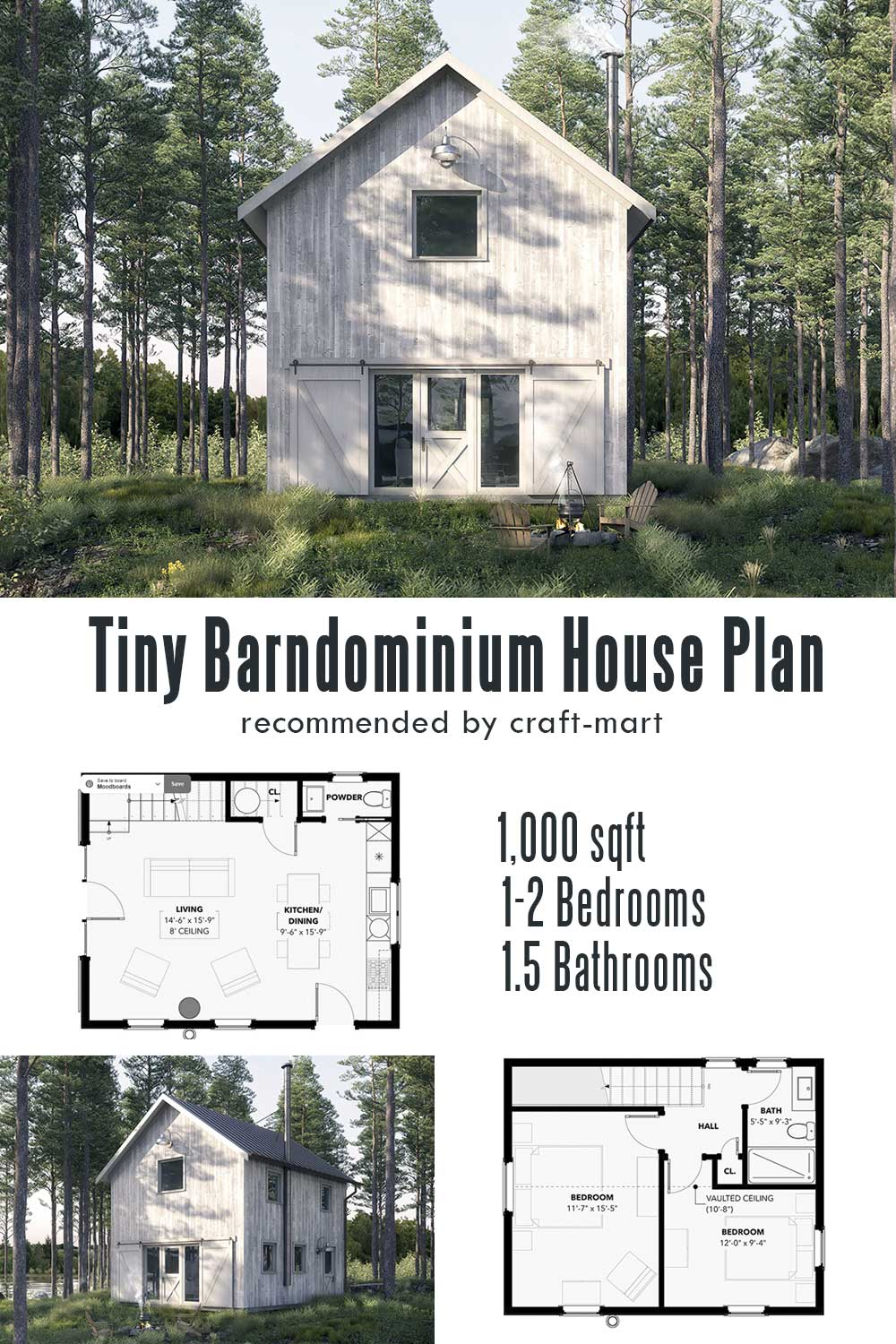 Tiny Barndominium House Plan
