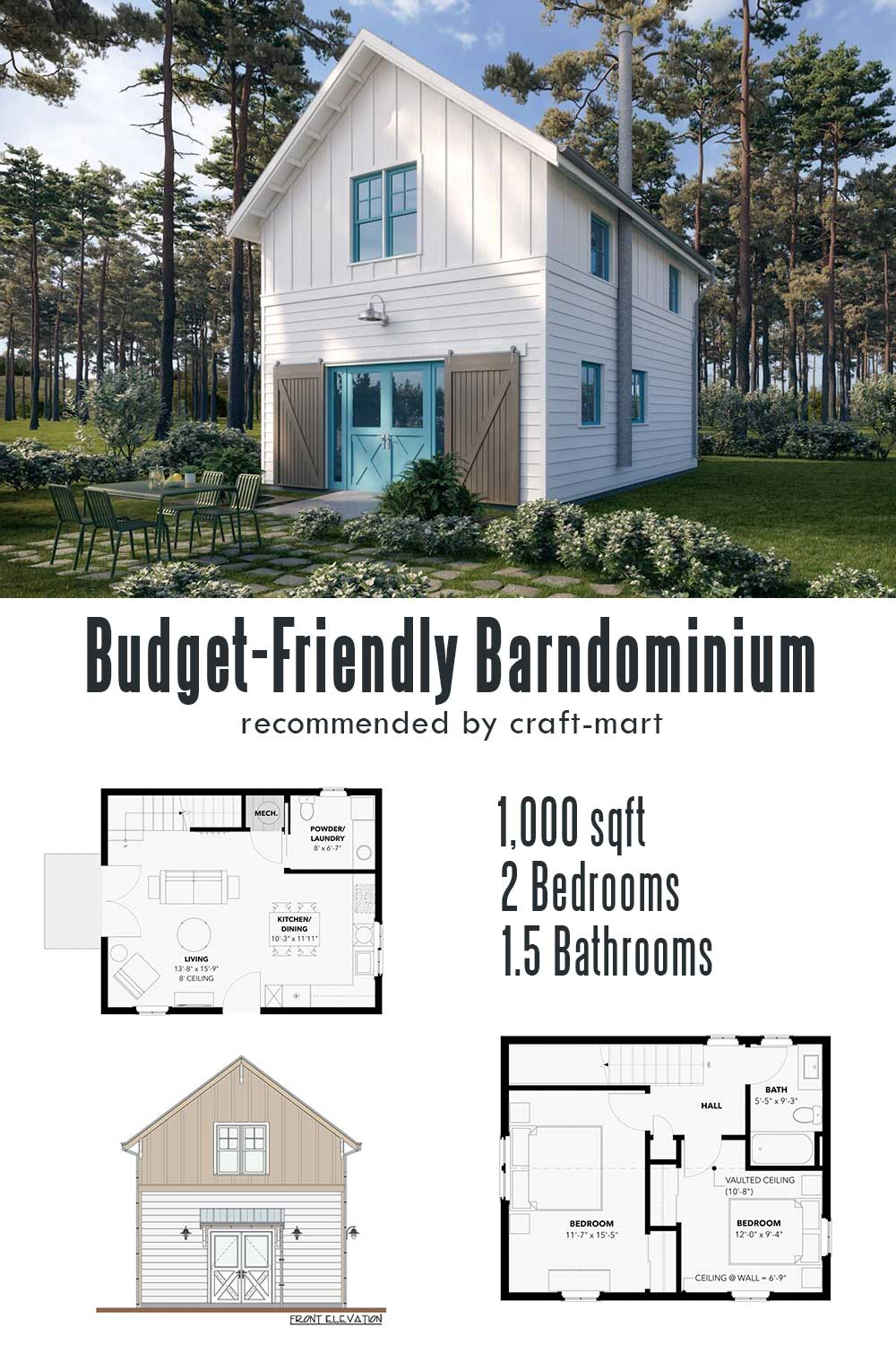 Cozy Budget-Friendly Barndominium Cottage